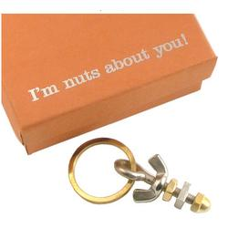 I'm Nuts About You Key Ring