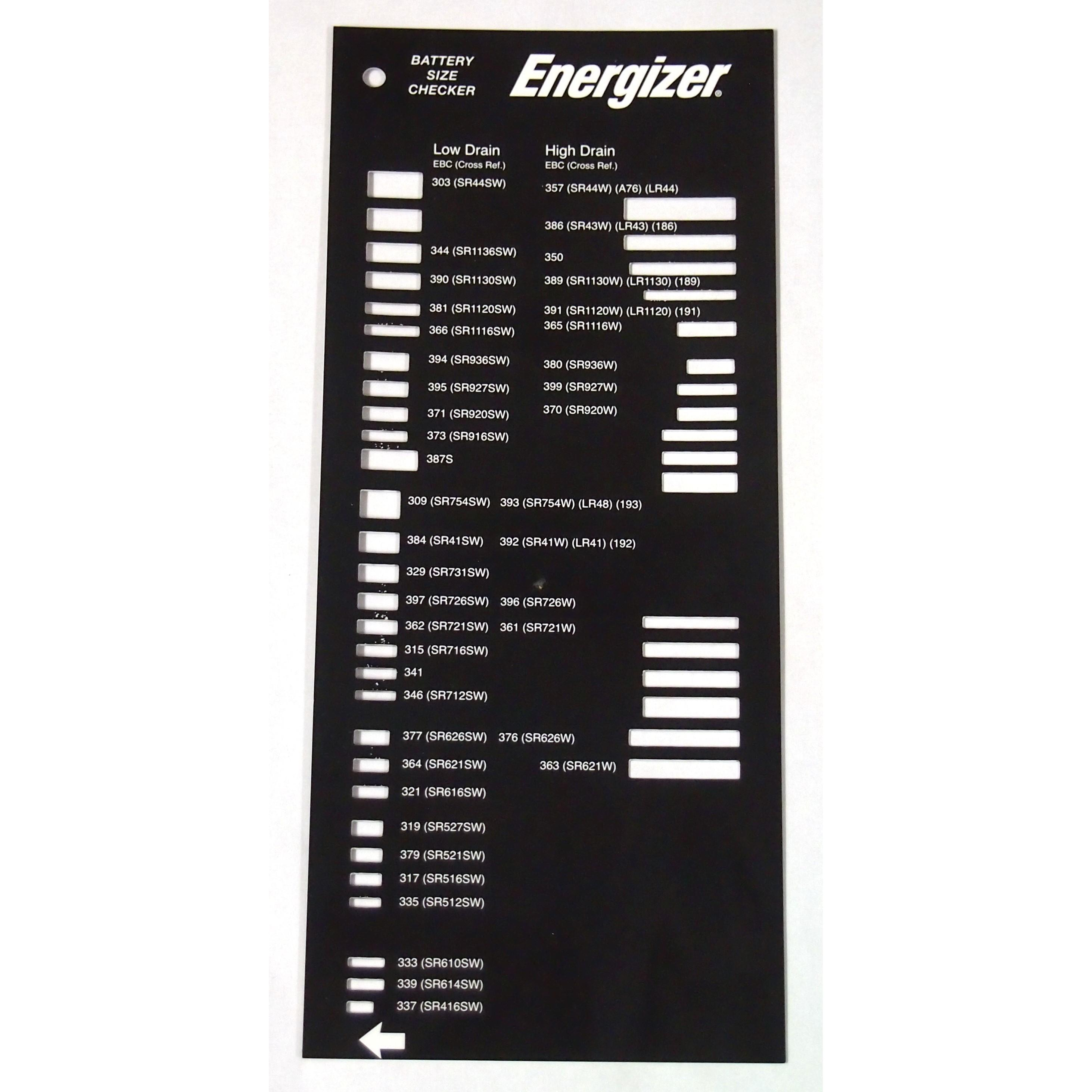 Battery Chart Replacement