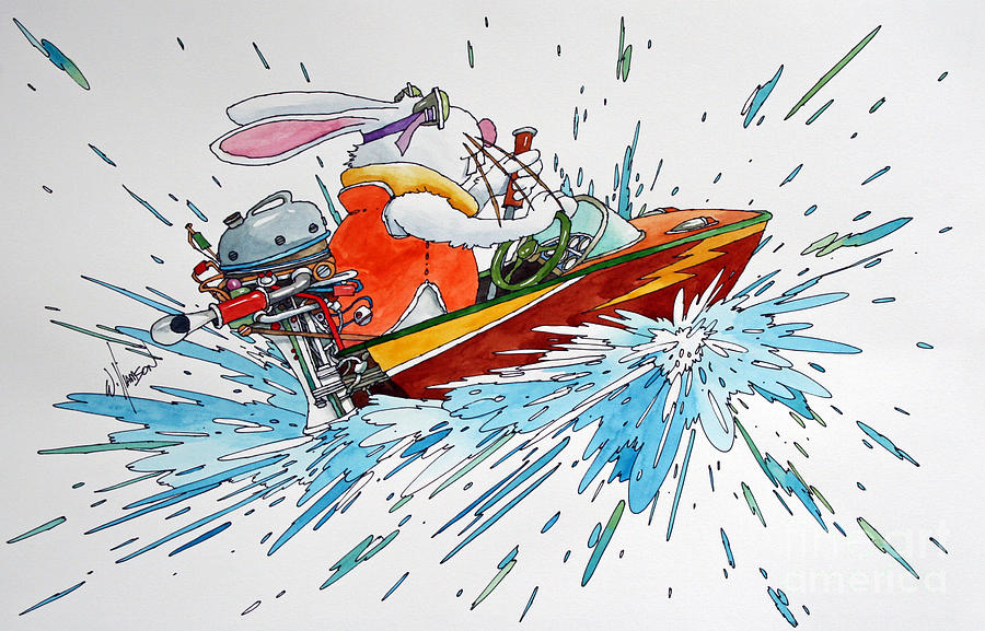 Boat Bunny Painting By James Williamson