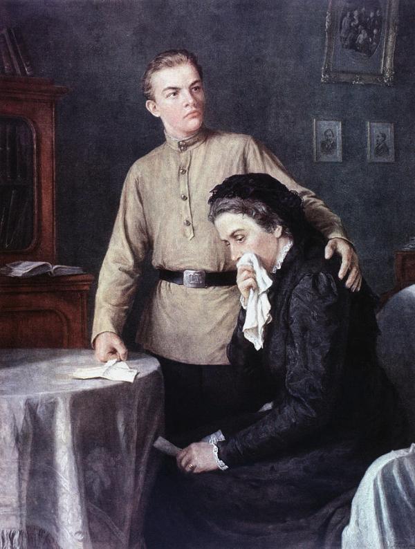 Vladimir Lenin (1870-1924) Painting by Granger