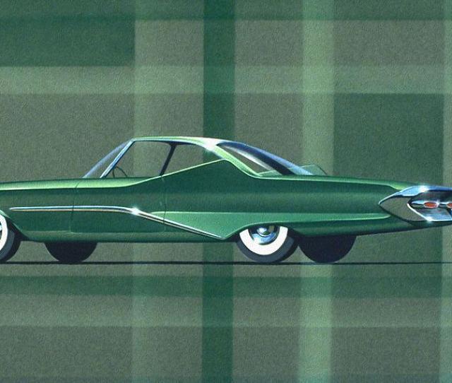 Classic Car Designs Painting 1960 Desoto Vintage Styling Design Concept Rendering Sketch By John Samsen