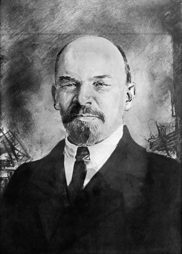 Vladimir Lenin (1870-1924) Drawing by Granger