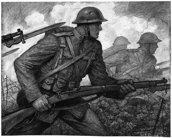 World War I Soldiers Drawing by Granger