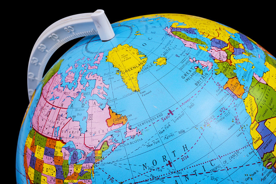 Old Rotating World Map Globe Photograph by Donald Erickson Globe Photograph   Old Rotating World Map Globe by Donald Erickson