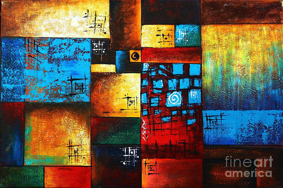 Abstract Oil Painting Modern Contemporary Art House Wall ... on Modern House Painting  id=38223
