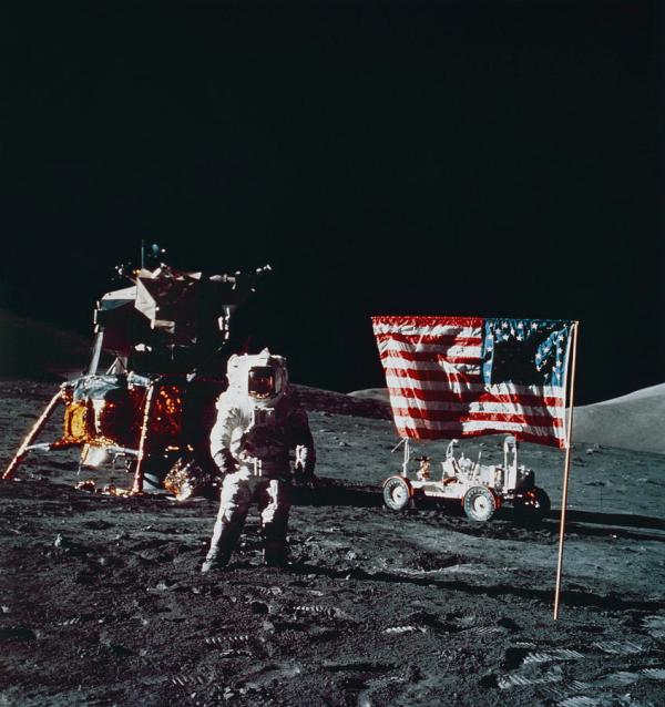 Apollo 17 Astronaut Harrison Schmitt On Moon Photograph by ...