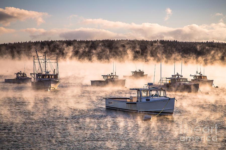 Arctic Sea Smoke Photograph By Benjamin Williamson