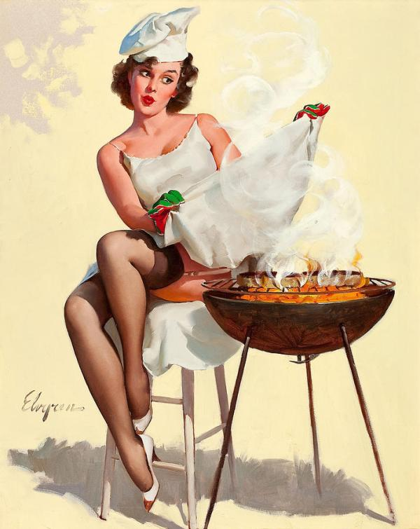 Barbecue Pin-up Girl Photograph by Gil Elvgren