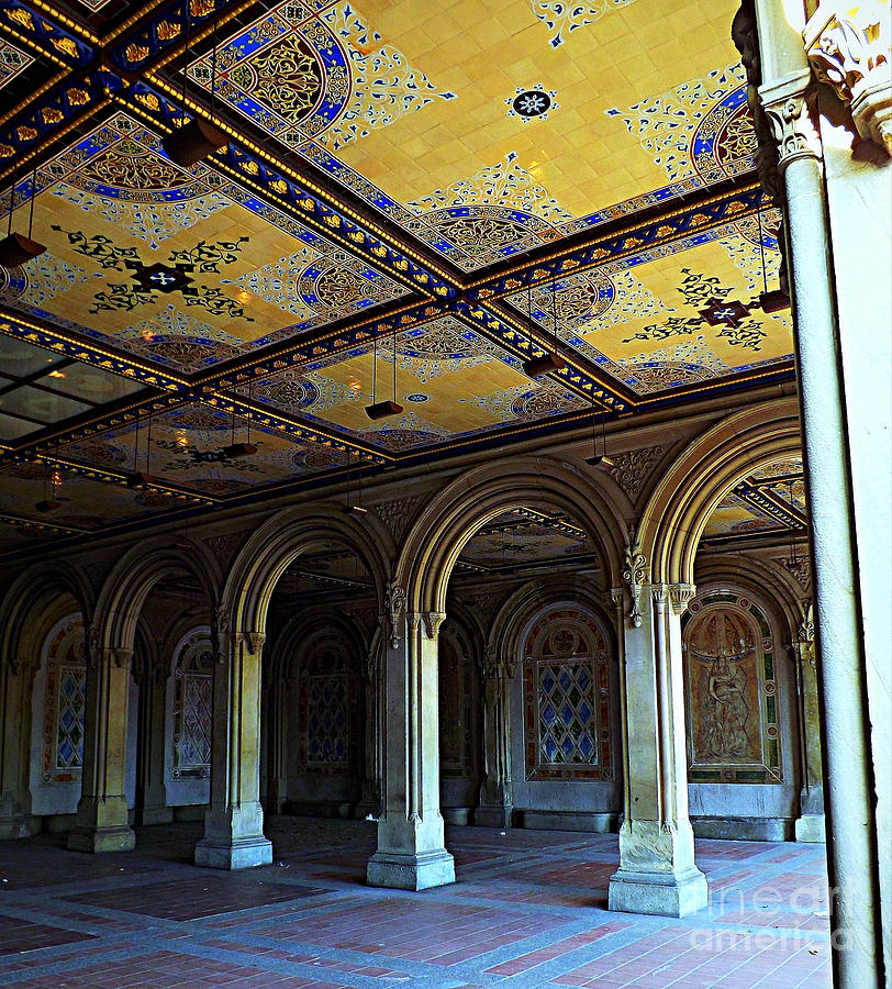 Bethesda Terrace Arcade In Central Park By James Aiken