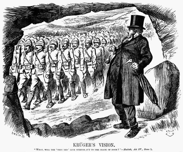 Boer War Cartoon, 1899 Painting by Granger