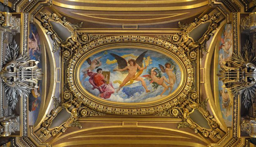Opera House Western Foyer : Paris opera house ceiling painting energywarden