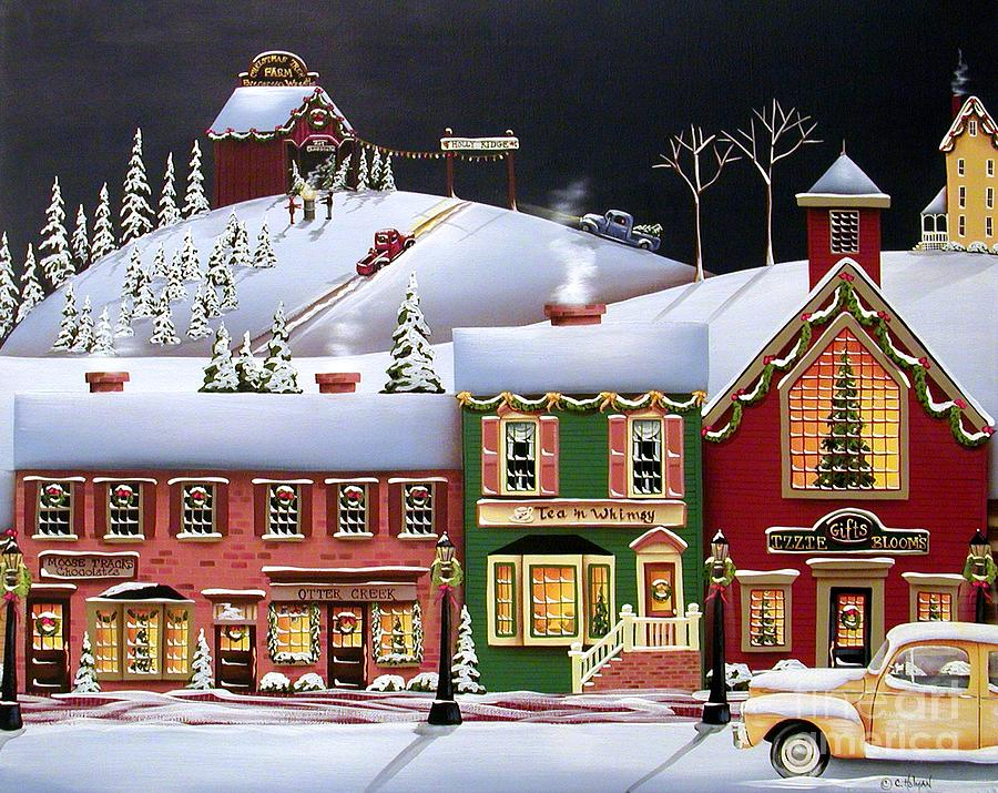 Christmas In Holly Ridge Painting By Catherine Holman