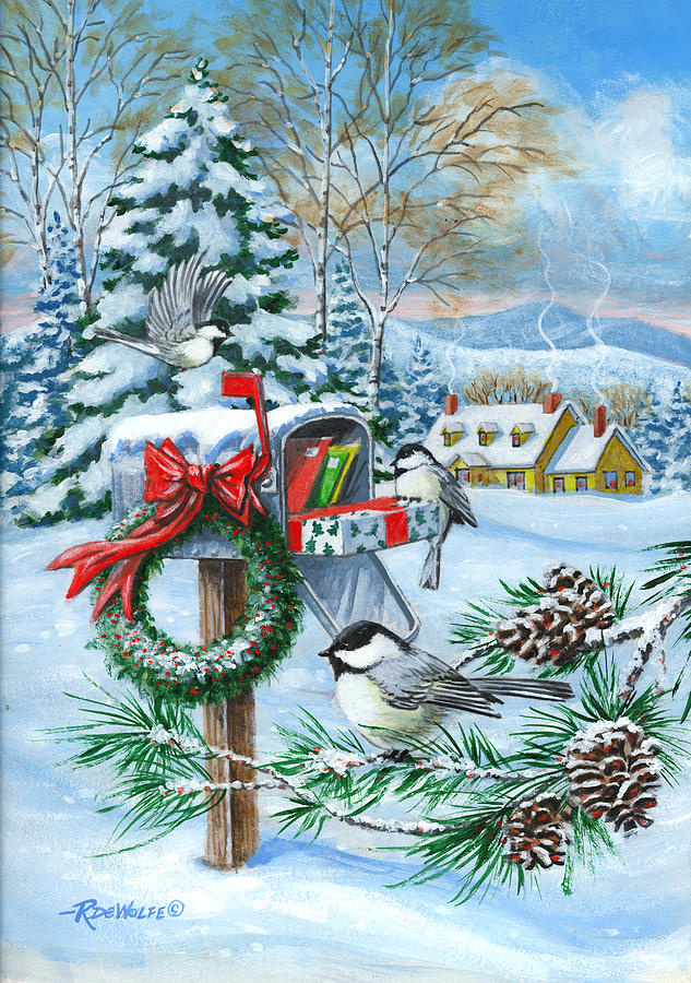 Christmas Mail Painting By Richard De Wolfe