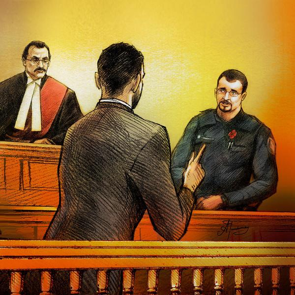 Counsel Harval Bassi Questions A Witness Painting by Alex ...