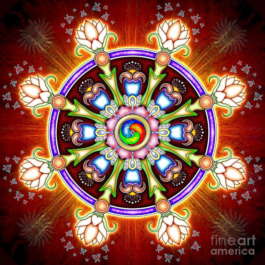 Image result for dharma wheel lotus