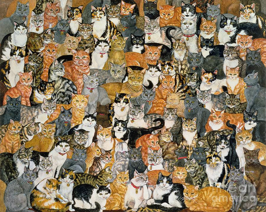 Double Cat Spread Painting By Ditz