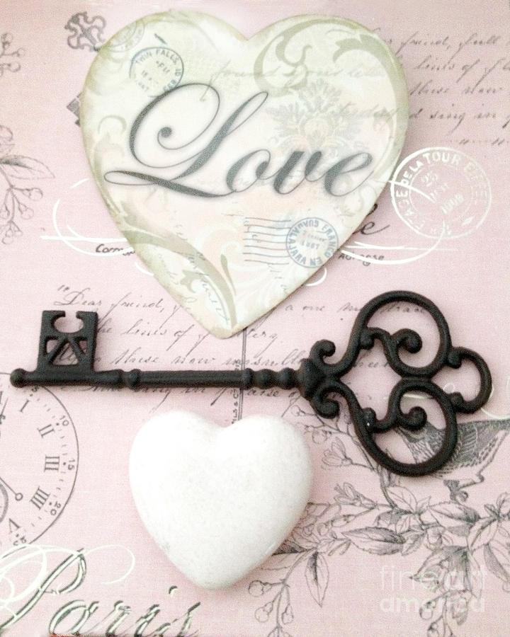 Dreamy Shabby Chic Romantic Valentine Heart Love Skeleton