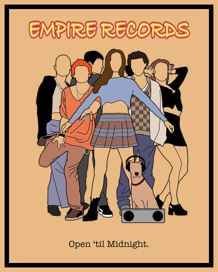 empire records movie poster by finlay mcnevin