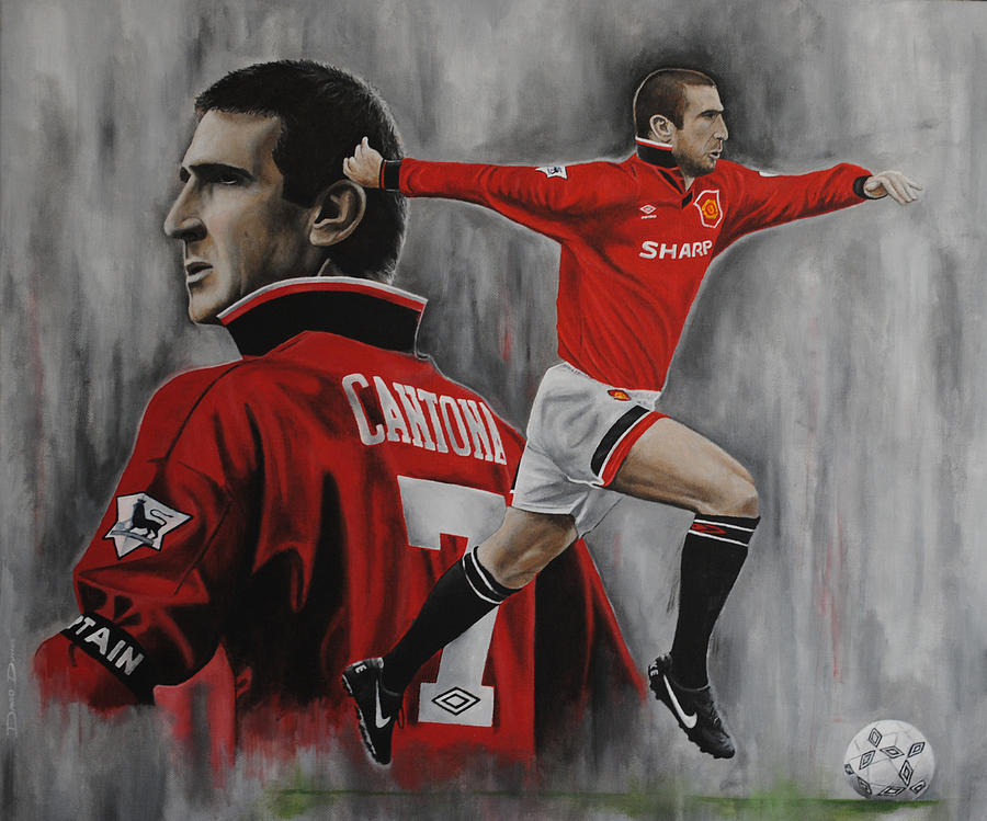 So frenchy, a really strong. Eric Cantona Painting By David Dunne