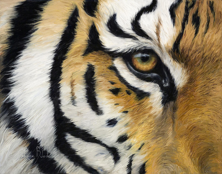 Eye Of The Tiger Painting By Lucie Bilodeau