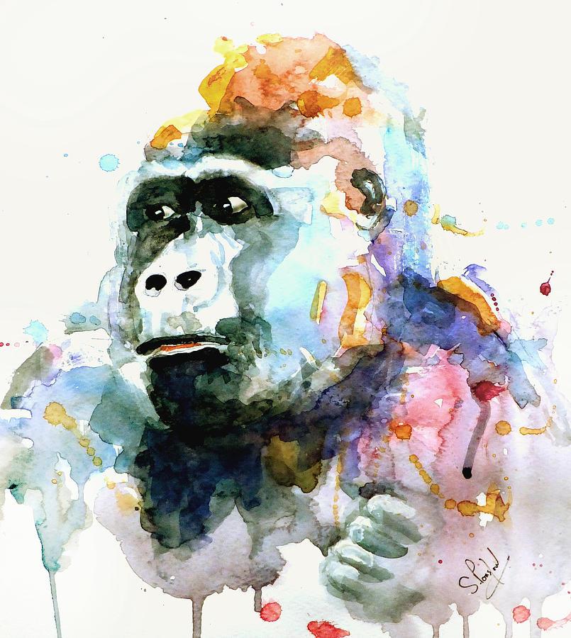 Gorrilla Painting By Steven Ponsford