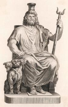 Hades Or Dis In Greek Mythology, Pluto Drawing by Mary Evans Picture Library