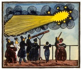 Halley's comet, 19th Century artwork Photograph by Science Photo Library