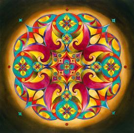 Healing - Heart Chakra Mandala Painting by Vikki Reed