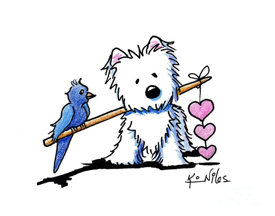 Heartstrings Westie Drawing By Kim Niles