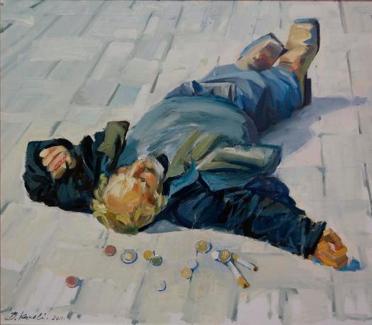 Homeless Painting By Buron Kaceli