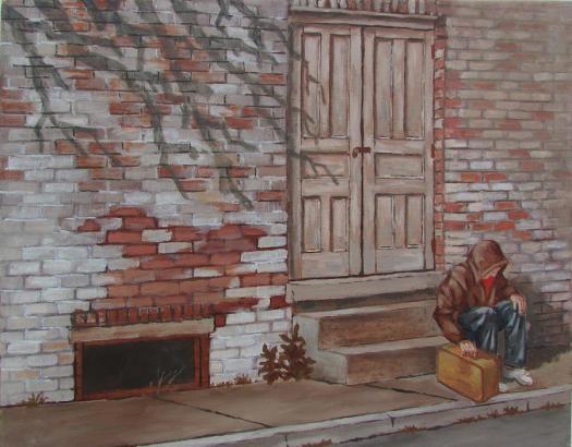 Homeless Painting By Tony Caviston