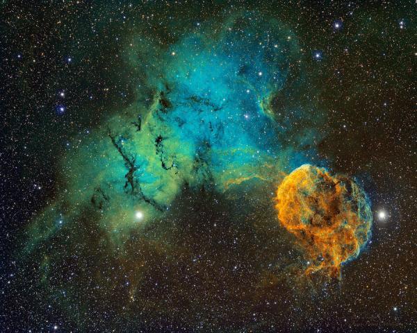 Ic443 - The Jellyfish Nebula Photograph by Bob Franke