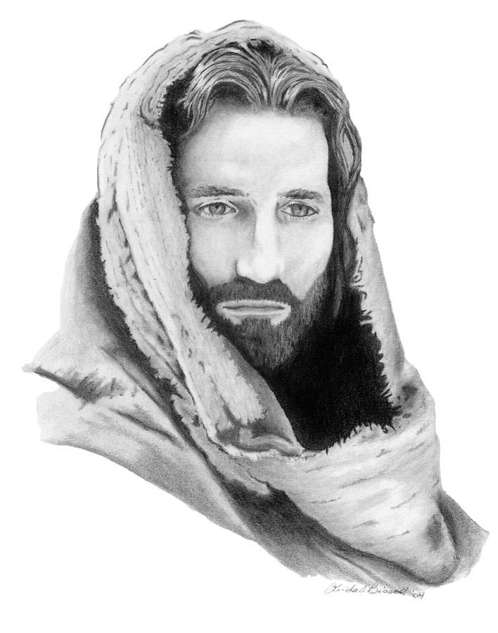 Jesus Drawing by Linda Bissett