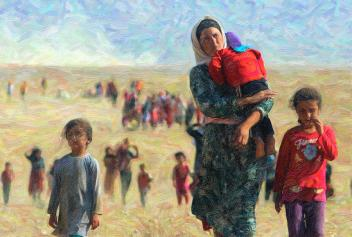 Image result for refugees paintings
