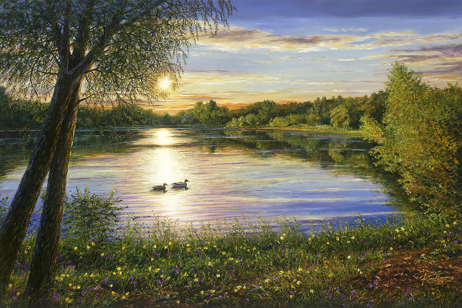 Image result for lake painting