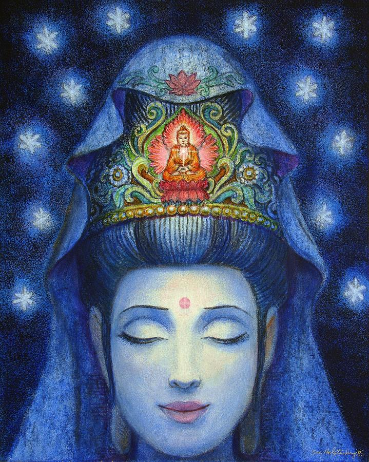 Image of Kuan Yin's face in bliss.