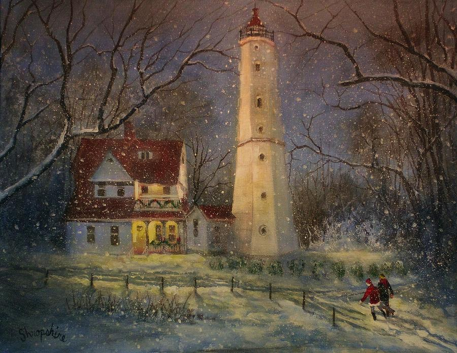 Milwaukees North Point Lighthouse Painting By Tom Shropshire