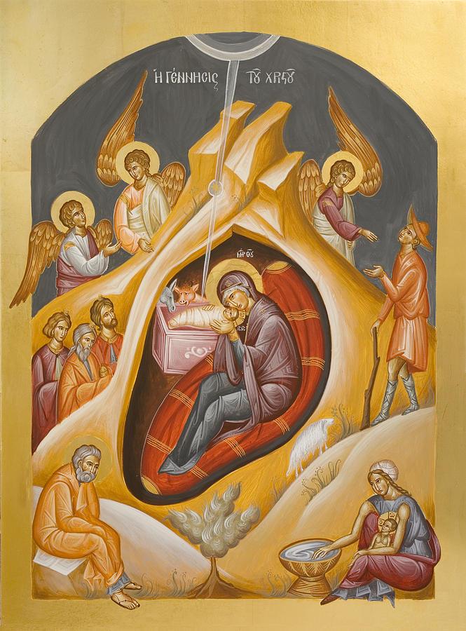 Nativity Of Christ Painting By Julia Bridget Hayes