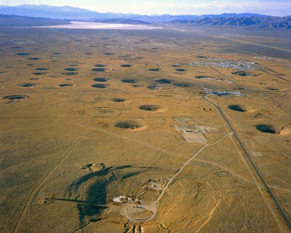 Nevada Test Site Atom Bomb Craters Photograph by Los ...