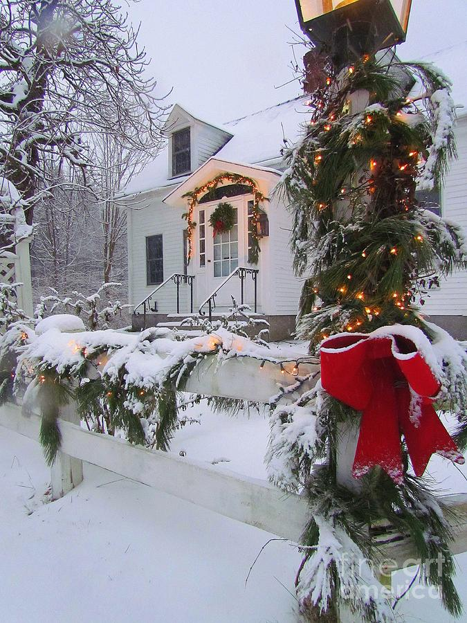 New England Christmas Photograph By Elizabeth Dow