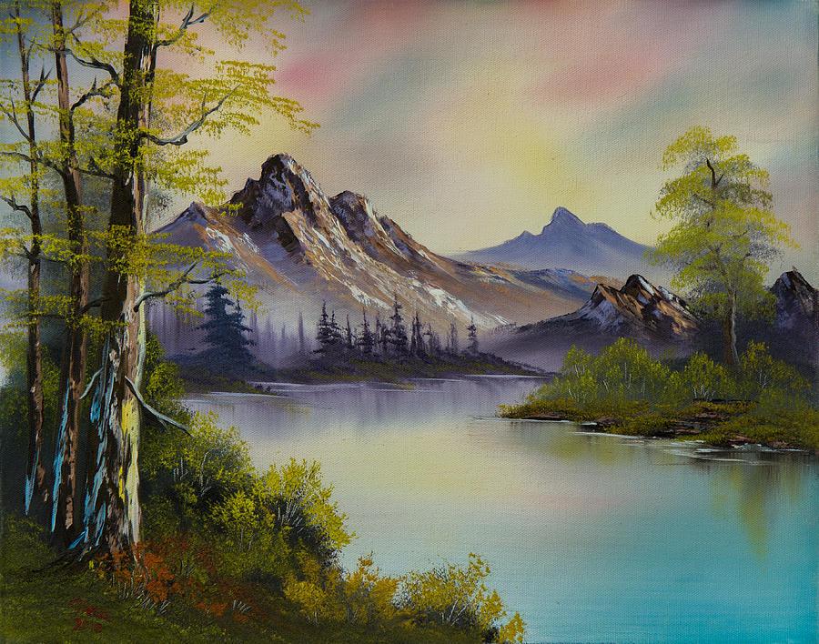 Easy Acrylic Painting Waterfall
