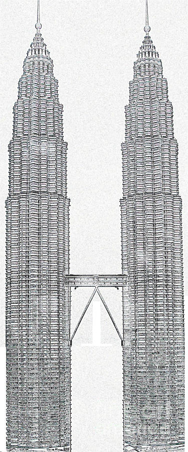 Twin Towers Free Coloring Pages