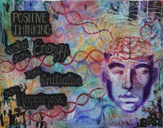 Positive Thinking Painting by Megan Wood