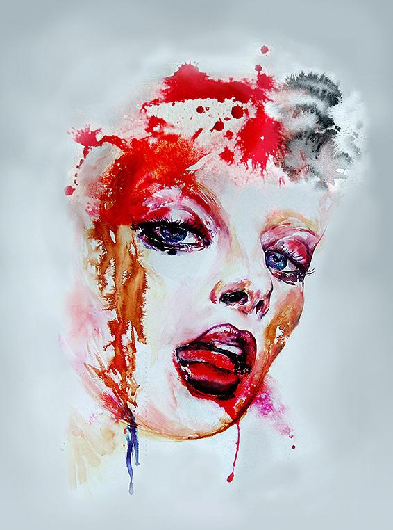 Red Lips Wall Art