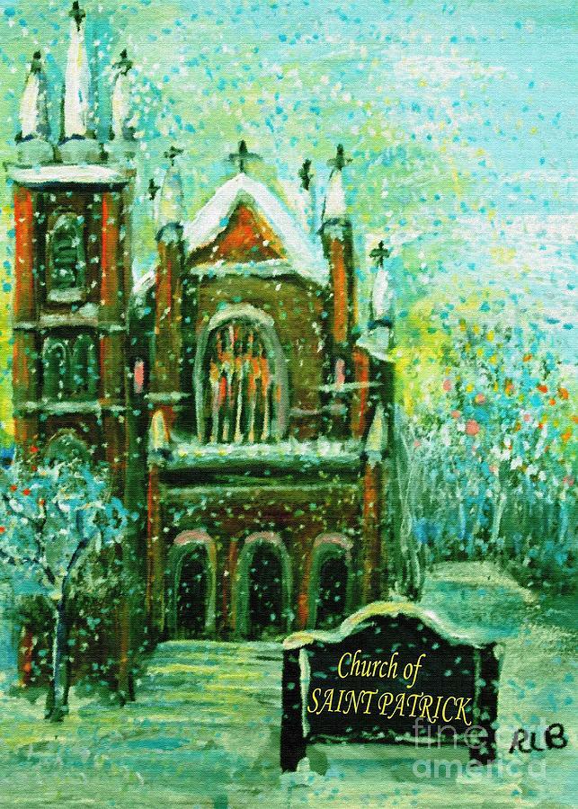 Saint Patricks Church On A Snowy Christmas Morning