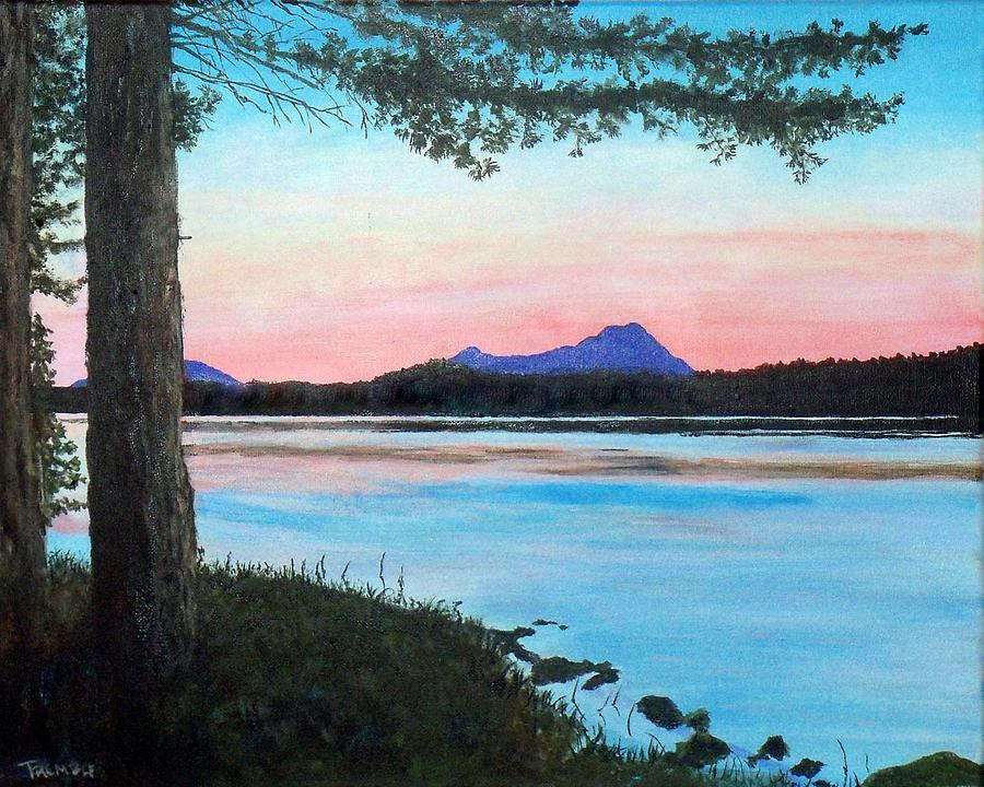Sebec Lake Maine Painting By William Tremble