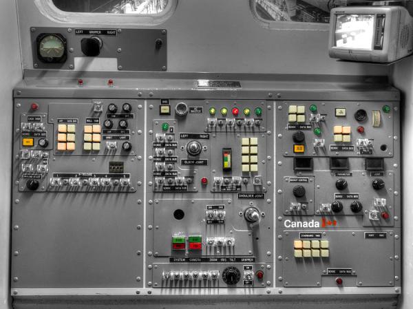 Space Shuttle Canadarm Robotic Arm Control Panel