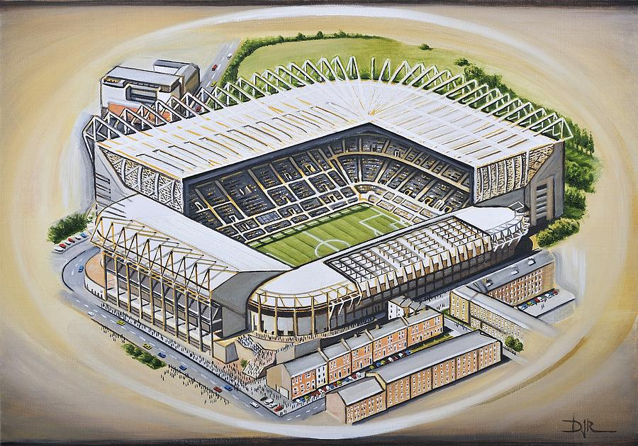 St James Park Newcastle United Painting By D J Rogers