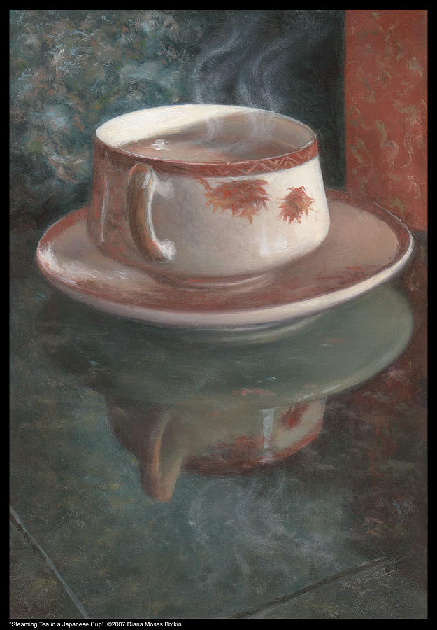 Image result for steaming tea painting