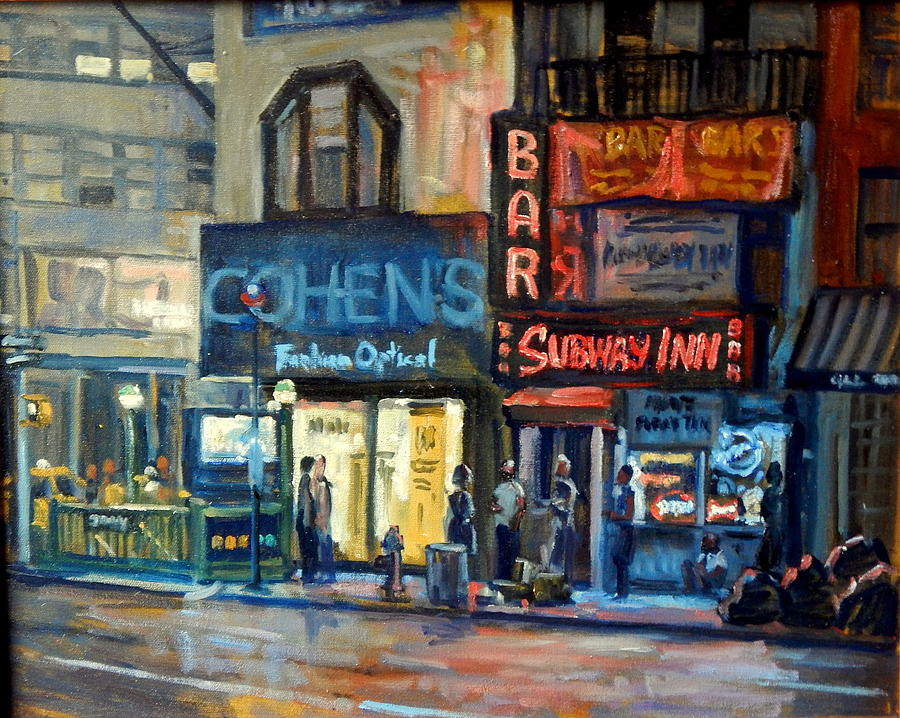 Subway Inn New York City Nyc Painting by Thor Wickstrom Oil Painting   Subway Inn New York City Nyc by Thor Wickstrom